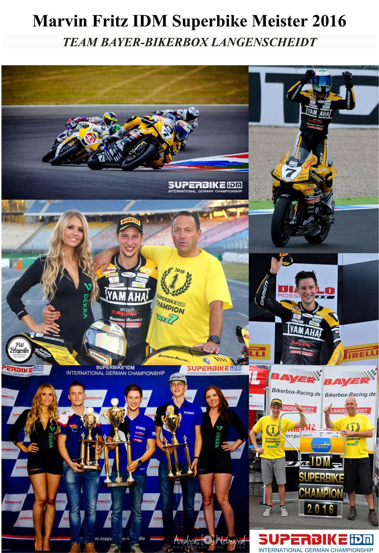 Marvin Fritz Saisonrückblick - Superbike IDM - Titelgewinn 2016